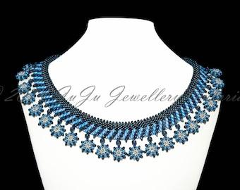 """Tutorial for Necklace """"Blue Dahlia"""""""