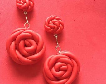 Raspberry Twist earrings