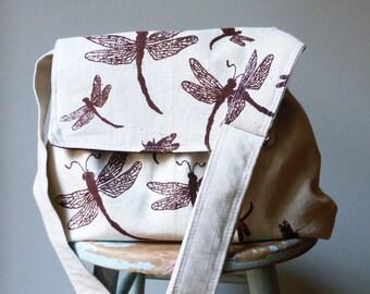 Dragonfly Messenger Bag Multi Purpose - Adjustable Strap - Pockets - Key Fob