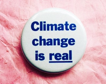 Climate change is real button / Environmental rights button / Anti-Trump button / Science is real button