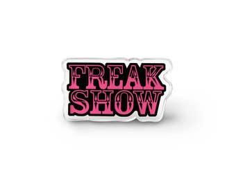 Freak Show Lapel Pin - Pastel Goth Asthetic Gothic Pingame Weirdo Grunge