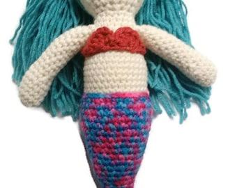 Mermaid, crochet mermaid, amigurumi doll, stuffed mermaid, crochet mermaid doll, birthday gift, mermaid plush toy, mermaid doll, mermaid toy