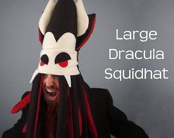 Vampire Squid Hat Plush Fleece Large Dracula