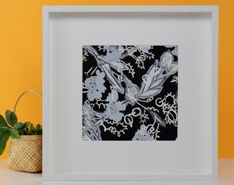 Autumn Heart | Plant Illustration | Watercolor Paper | Framed Art | Gouache |One piece only
