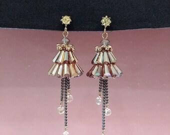 Beads Drop Stud Earring