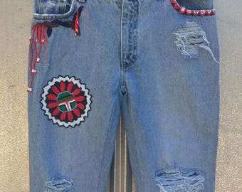80s Blumarine Embroidered Jean