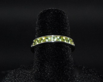 Channel set Peridot ring