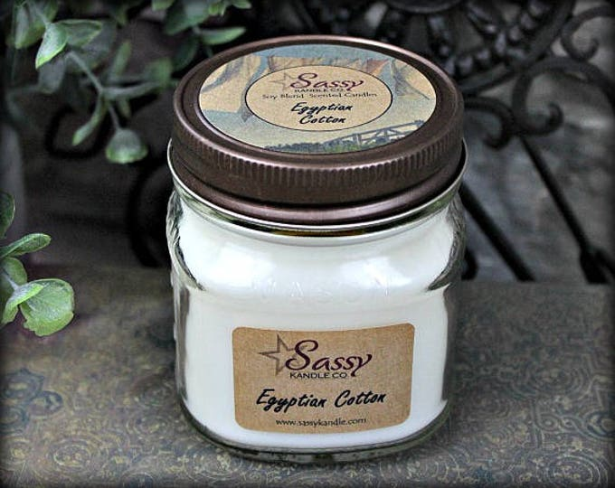 EGYPTIAN COTTON | Mason Jar Candle | Sassy Kandle Co.