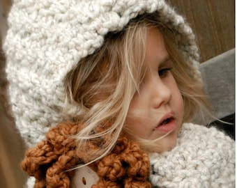Crochet PATTERN-The Havyna Hood (Child, Adult sizes)