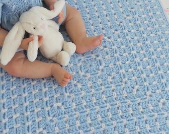 Crochet Baby Blanket Pattern - CHUNKY BLOCKS  Granny Square Blanket Pattern Quick Blanket Pattern Crochet throw pattern Easy crochet pattern