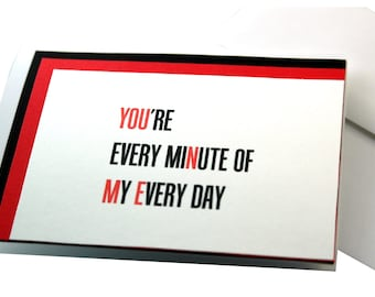 Anniversary Card, Valentines day card, You n me, Birthday, thanks for loving me, boyfriend card, for him, love card, I love you