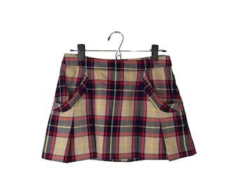Vera Wang Plaid Skirt