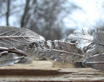 INTRODUCING Language of Leaves Cuff Bracelets, Sterling Silver Cuff Bracelet, Leaf Cuff, Silver Cuff Bracelet, Mantra Bracelet