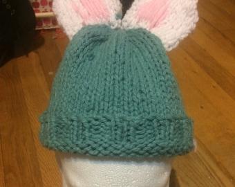 Bunny ear baby hat