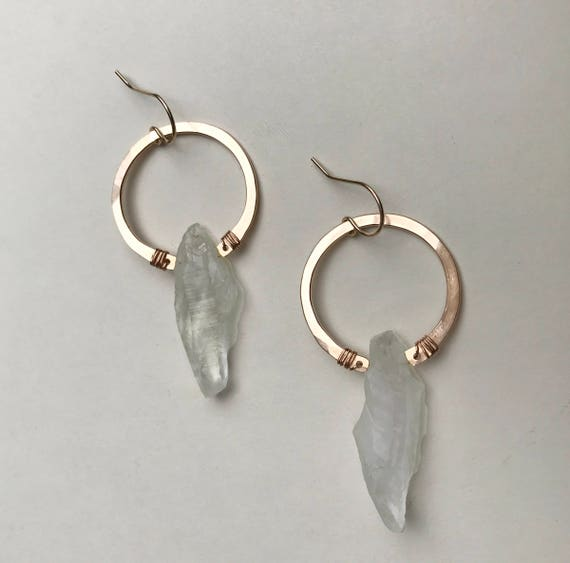 Cape Earrings in Green Amethyst