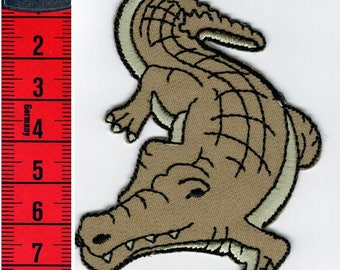 Patch fusible Crocodile, or sewing 6.5x9 cm Patch Applique