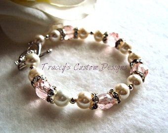 Breast Cancer Survivor Bracelet- Custom made just for you.