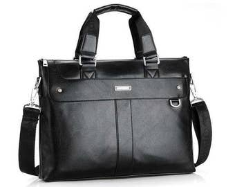 Men Vintage Casual Shoulder Messenger Bag Business Briefcase Computer Laptop Handbag