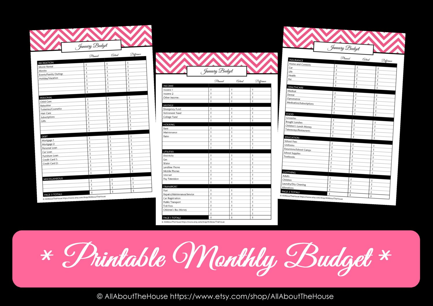 29 Images of Cute Monthly Budget Template | leseriail.com