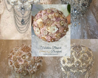Custom Brooch Bouquets, Let Us Create Your Perfect Wedding Bouquet & Bridal Accessories, Rush Orders Welcome Depositsfrom 99.00-150 USA made