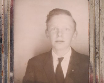 1940's Handsome Young Lad Photomatic Photo - Free Shipping