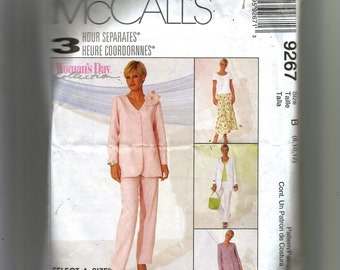 McCall's Misses' Unlined Jacket, Top, Pull-On Pants and Bias Skirt Pattern 9267