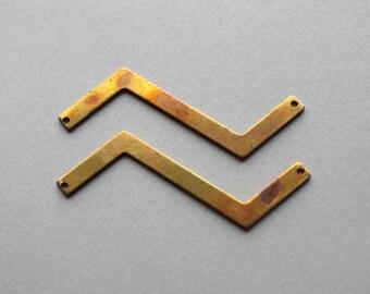 Oxidized Brass Geometric Pendants