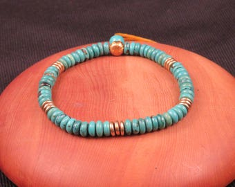 Turquoise and Brass bracelet