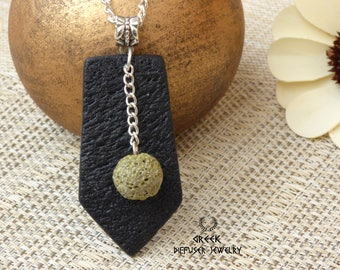 Essential oil diffuser necklace Essential oil necklace Aromatherapy jewelry Diffuser necklace Lava rock Aromatherapy jewelry Essential