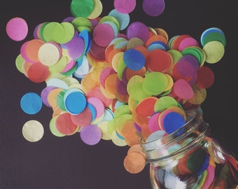 BRIGHT RAINBOW tissue paper confetti / cake table / party confetti / balloon confetti toss / rainbow decorations / lgbt wedding decor