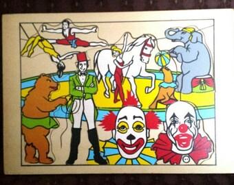 Vintage Wood Circus Puzzle - 5 piece