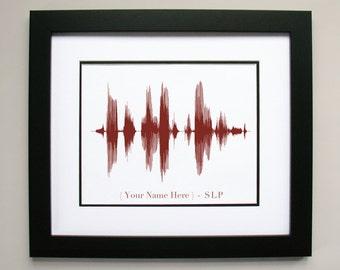 Custom Speech Language Pathologist Art Print Gift - Sound Wave & Voice Art Poster for SLP: Professional Office Decor, Speech Therapist Art