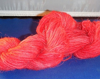 1.375 ounces Handspun, Hand-dyed White Welsh Mountain Wool Worsted weight Yarn