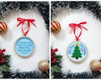 First Christmas ornament married ,our first Christmas, first Christmas as Mr and Mrs, Newlywed Couple, personalized tree decoration