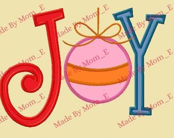 Joy Ornament Applique