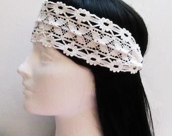 White Lace Headband, Boho Headband Lace, Boho Headband Floral, Hippie Headband Woman, Boho Headband. Lace Headband, Boho Headband Woman