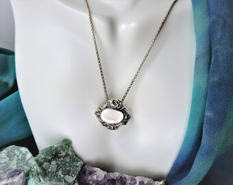 Sterling Silver Pendant Necklace Signed Hughes