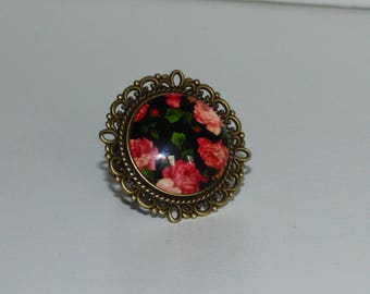 Ring adjustable floral collection 20mm
