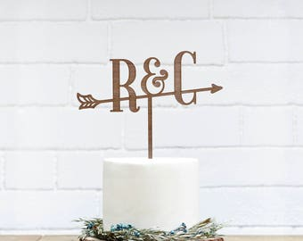 Customized Wedding Cake Topper, Personalized Cake Topper for Wedding, Custom Personalized Wedding Cake Topper, Initial Cake Topper-19