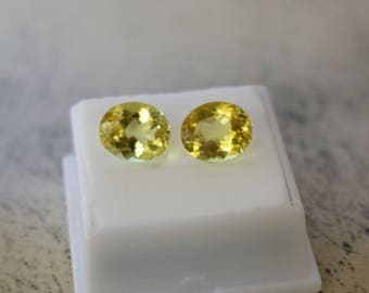 Magnificent 3.75 ct. Genuine 12x10 MM Cushion Cut Golden Heliodor Beryl Gemstone.