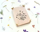 Flower Press, Meadow Flowers, Bridesmaid Gift, Botanical Press, Wooden Flower Press, Herbarium,Gift for her, Waldorf Gift, School