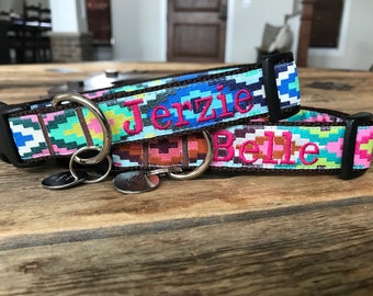 Med or Lg Dog Collar. Custom Personalized Dog Collar. Embroidered Dog Collar.