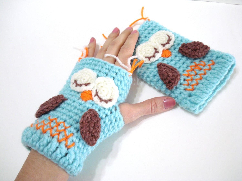 Crochet pattern gloves pattern owl gloves pattern tutorial zoom bankloansurffo Images