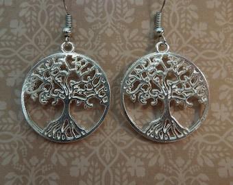 Silver Tree Earrings - Sterling Silver