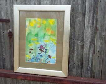 Original Painting Watercolour or Mixed Media of flowers