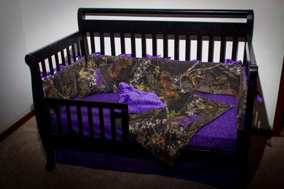 Purple Camo Comforter Set: Custom 4 Piece Mossy Oak Bedding Hunter Camo Camouflage Crib