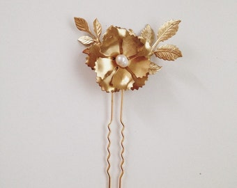 Corrine flower hairpin, large size #1305a