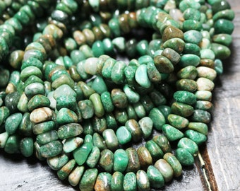 African Jade Nugget, Green Gemstones, Natural Beads, Nugget Beads, Earthy Beads, 7mm - 10mm