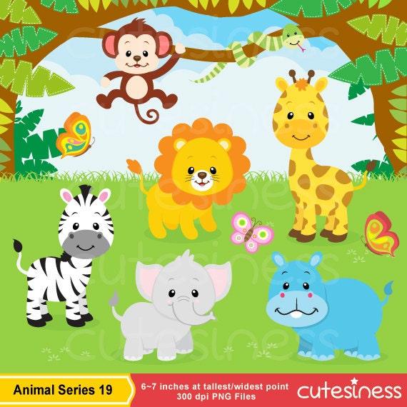 jungle animal clipart safari clipart safari clip art rh etsy com safari animal clipart safari animal clipart black and white