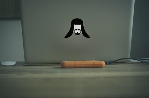 Arabian Prince Decal Sticker for Apple Macbook, Arab, Arabic, Sultan, Arabia, Decals, Vinyl Stickers, Sheikh, Macbook Decal Sticker